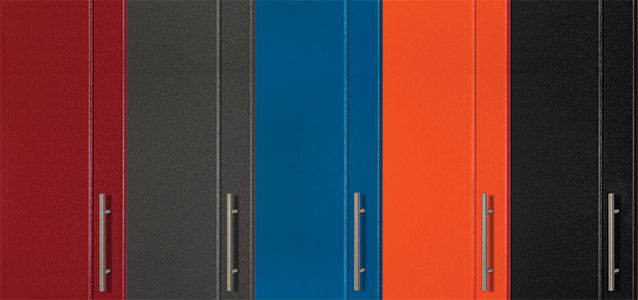 We offer five powder-coated colors.