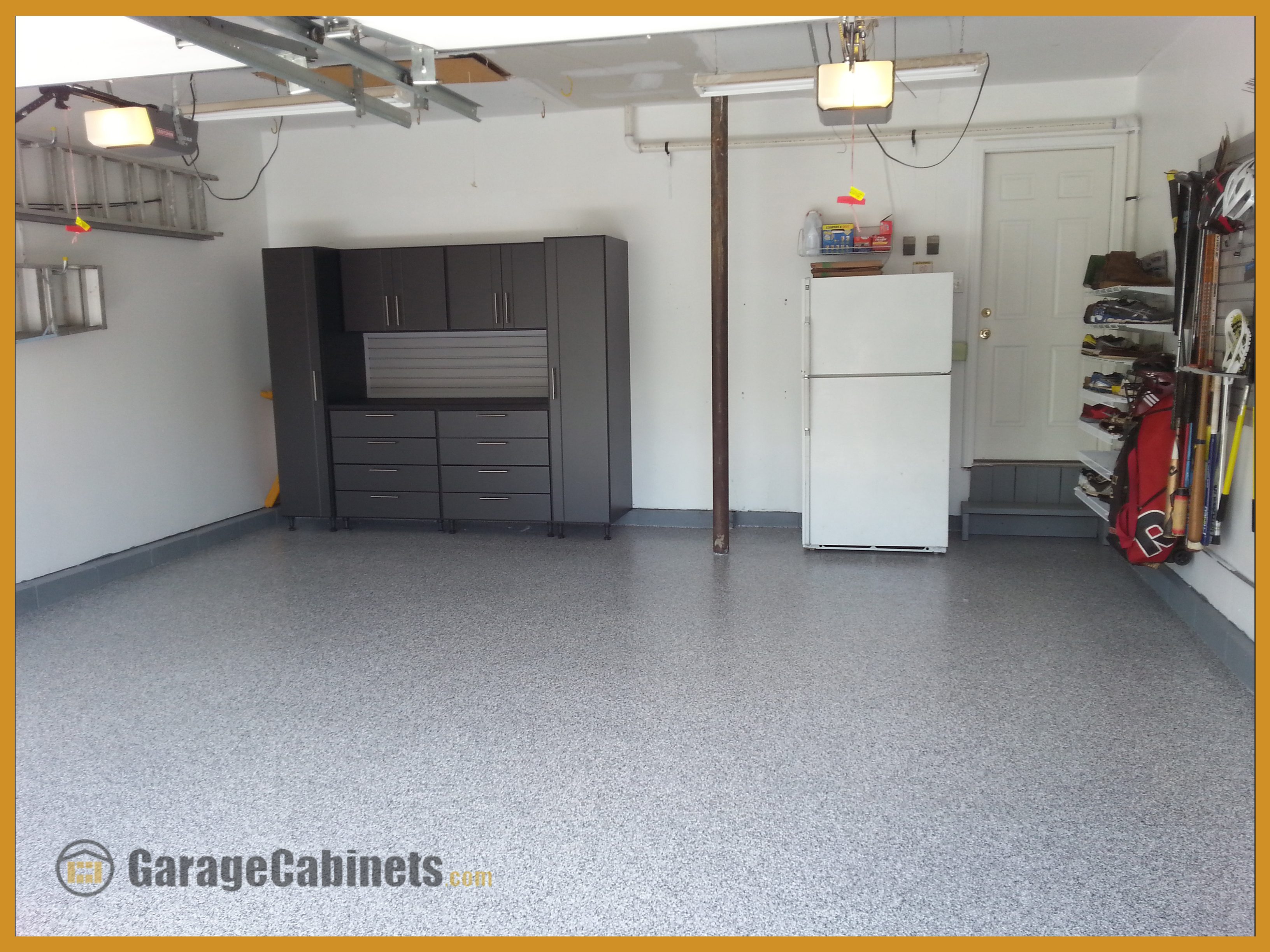 Work Space Garage Cabinets In Your Average New Jersey 2 Car Garage