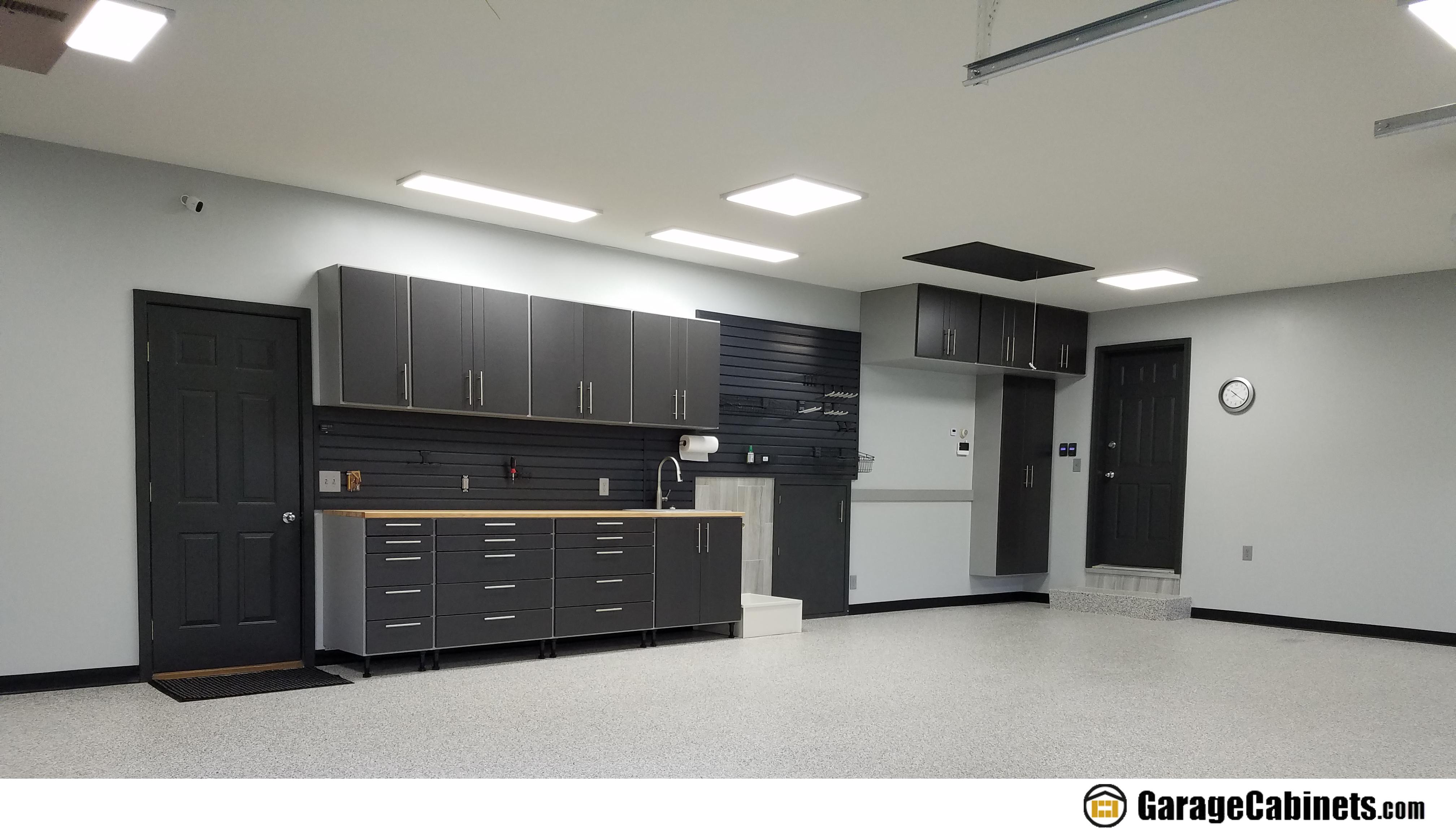 Garage Workbench With Storage